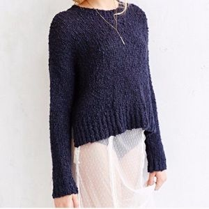 Kimchi Blue Navy bobble Knitted Sweater XS